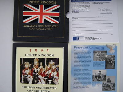 1995 Royal Mint B UNC coin colection year set