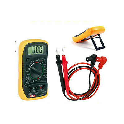 Digital LCD Multimeter Voltmeter Ammeter OHM AC DC Circuit CheckTester Buzzer