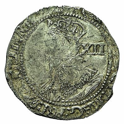 CHARLES I HAMMERED SILVER SHILLING mm SUN S2800