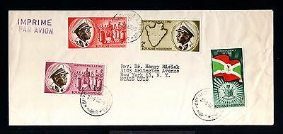 12730-REPUBLIQUE BURUNDI-AIRMAIL COVER BUR.to NEW YORK (usa)1962.FRENCH colonies