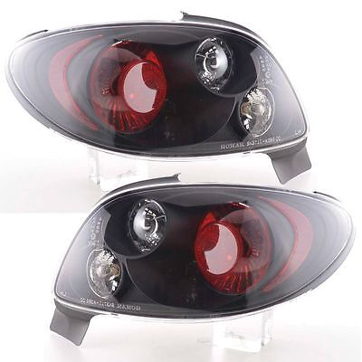 Peugeot 206Cc 1998-2009 Cc/convertible Black Lexus Rear Tail Lights Lamps Pair