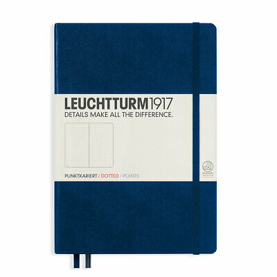 Leuchtturm 1917 Navy, Hardcover, Medium, dotted Notebook dot grid journal - NEW