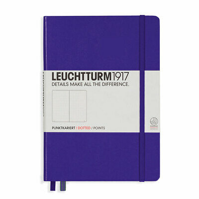 Leuchtturm 1917 Purple, Medium, dotted notebook - dot grid journal -NEW