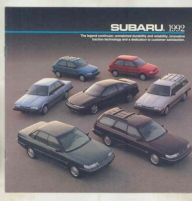 1992 Subaru SVX Legacy Loyale Justy Brochure my6507