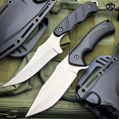 2 PC TACTICAL SURVIVAL Hunting MILITARY Fixed Blade Skinner Skinning Knife SCUBA