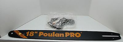 """NEW Poulan Pro 18"""" Bar and Chain Replacement System Chainsaw 18 91-62 9C"""