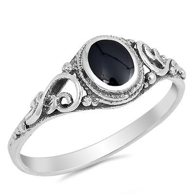 USA Seller Black Ring Sterling Silver 925 Best Jewelry Selectable Black Onyx