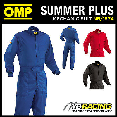 Sale! Nb/1574 Omp Summer Plus Overalls Mechanic Suit Pit Crew Karting Leisure