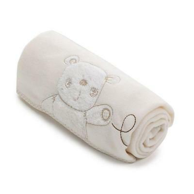 Obaby B is for Bear Appliqued Fleece Blanket (Cream)
