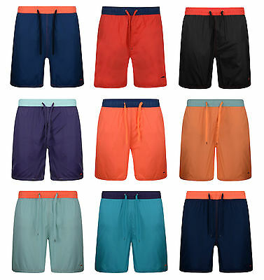 Mens Swim Shorts Beach Holiday Contrast Mesh Lined Swimming Shorts Bnwt