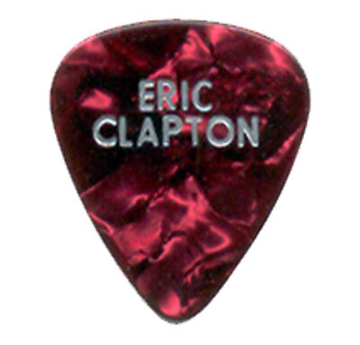 "ERIC CLAPTON --- 2010 ""Red Marble"" guitar pick"
