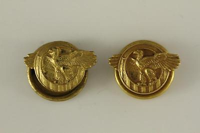 Vintage Lot Brass US Military Corps WWII Veteran RUPTURED DUCK Lapel Buttons