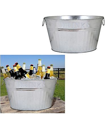 e2e Metal Tin Drinks Party Barbecue Champagne Wine Beer Cool Ice Bucket Bowl