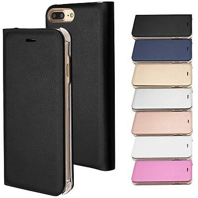 Iphone 7 / Iphone 7 Plus Housse Etui Coque Flip Cover Simili Cuir Film Stylet