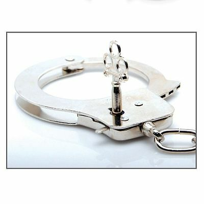 Handcuffs Hand Cuffs Metal Chain Toy Chrome Wholesale Adult supplies tools