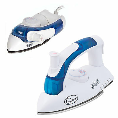Foldable Folding Compact Steam Travel Iron Mains Dual Voltage Easy Glide Small
