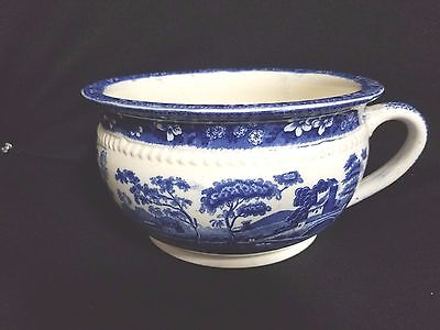 Spode TOWERS BLUE (NO # OLDER MID 1800'S ) - Chamber Pot