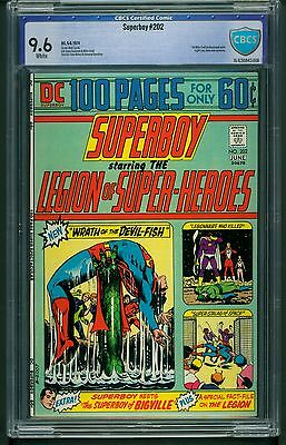Superboy #202 (1974) CBCS Graded 9.6 ~ Mike Grell ~ Light Lass ~ Not CGC