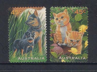 (UXAU081) AUSTRALIA 1996 Pets Stamp Collecting Month fine used 2 stamps