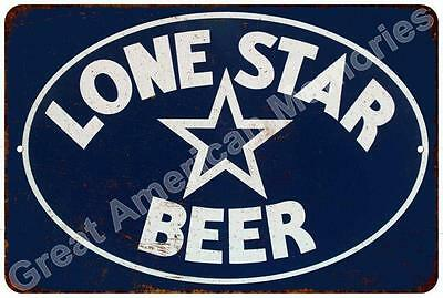 Lone Star Beer Vintage Look Reproduction Metal Sign 8x12 8123095