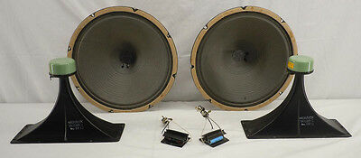 """Magnavox 12"""" Speakers 581211 & Horn Tweeters 58008 From Astro Sonic Console"""