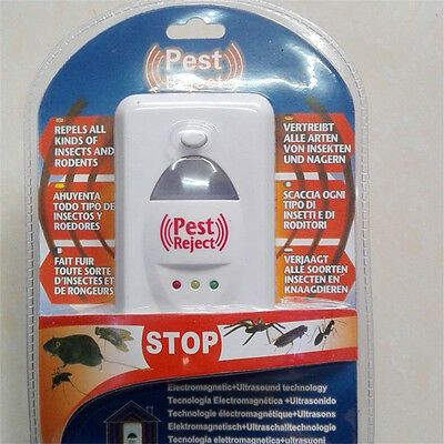 Ultrasonic Electronic Rat Cockroach Spider Pest Bug Mosquito Repeller Reject New