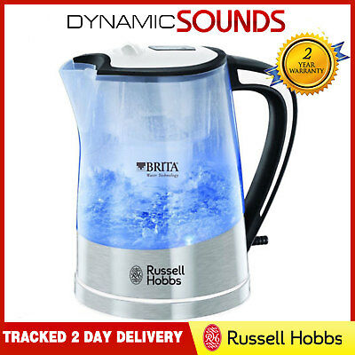 Russell Hobbs 22851 Brita Purity Plastic 1Litre Transparent Jug Kettle 3000W
