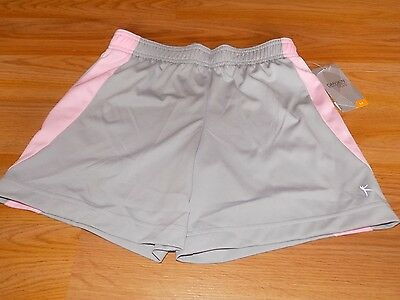 Girl's Size Medium 7-8 Danskin Now Light Gray Pink Active Athletic Shorts New