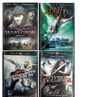 Martial Arts Movies DVD Jet Li Chen Kuan-Tai Li Peng Zhang Lot of 4 [LS5]V&