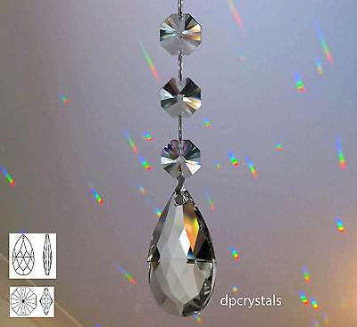 Hanging Suncatcher Feng Shui Rainbow Prism made using Swarovski spectra crystals