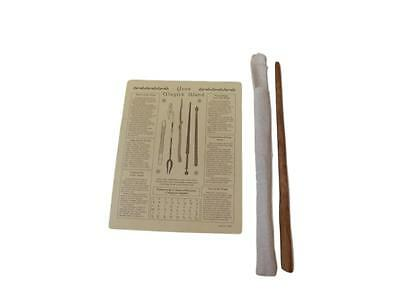 Authentic Natural Oak Wooden Powerful Magic Wand w Case & Instructional Poster