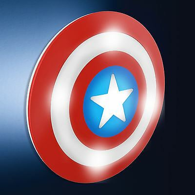 Official Marvel 3D Lampe Murale Captain America Protection