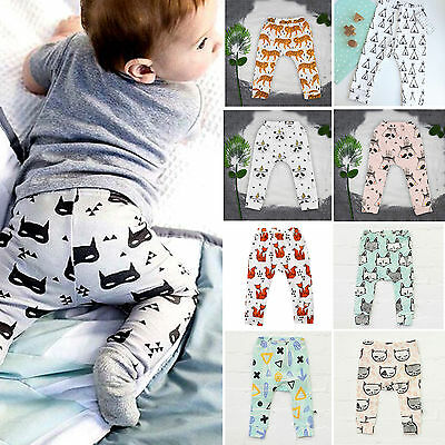 Newborn Toddler Infant Baby Boys Girls Cotton Clothes Long Pants Outfit Leggings