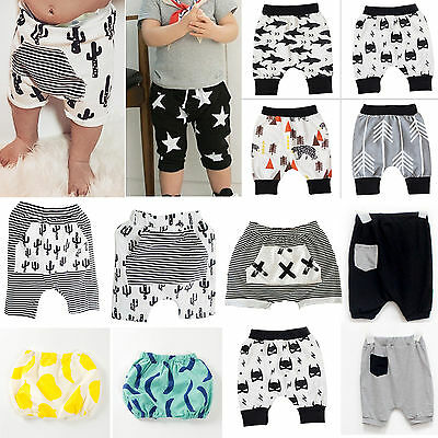 Baby Boys Girl Harem Pants Kids BAGGY Sport Trousers Toddler Summer Beach Shorts