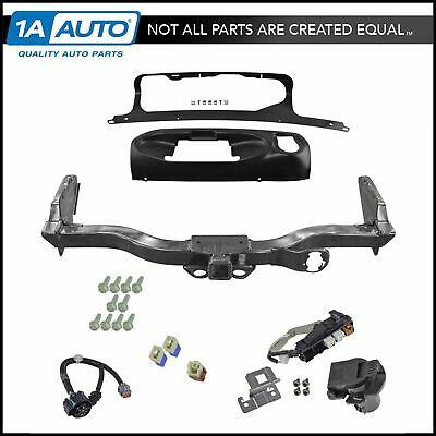 oem trailer tow hitch receiver w/ harness and finisher kit for nissan  pathfinder