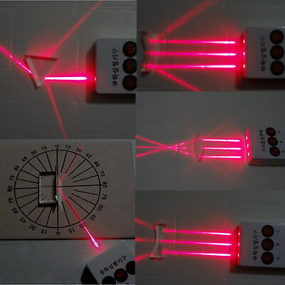 Physical Optical Experiments Set Concave Convex Lens Triangular Prism Laser Test