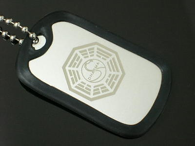 Dharma Lost Swan Necklace Dog Tag New