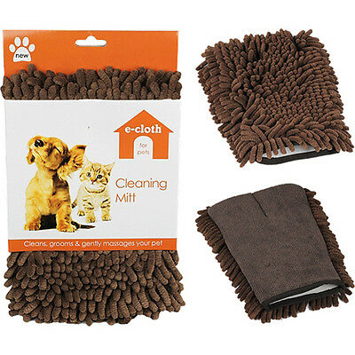 e-Cloth Pet Cleaning Mitt Glove Use Wet or Dry Easily Removes Dirt and Moisture