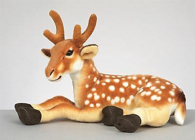 48cm Golden Brown Deer Reindeer Soft Toy Plush Christmas Lying Down Decoration
