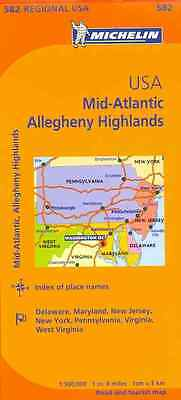 Michelin Map Mid-atlantic, Allegheny Highlands By Michelin Travel & Lifestyle...