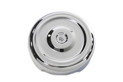 """Chrome Round Bobbed Style 8"""" Air Cleaner Cover, EA,for Harley Davidson motorcycl"""