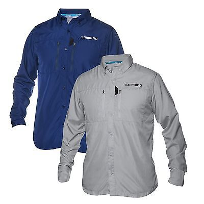 Shimano Volans Long Sleeve Vented Shirt, Button-Front - FlyMasters