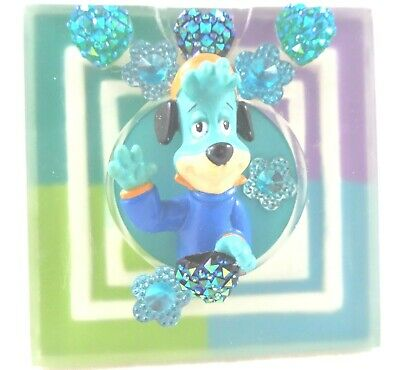hb Huckleberry Hound PVC Figure in Magnet Frame Stand/Stick Hanna-Barera H-B
