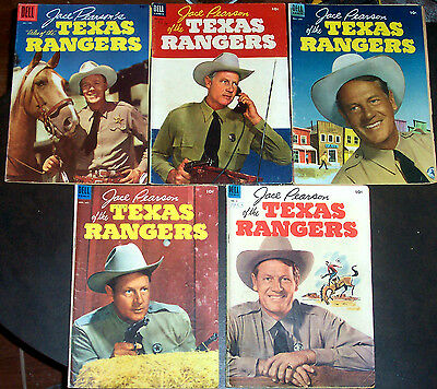 JACE PEARSON OF THE TEXAS RANGERS #2,3,4,8,14 Classic Dell Western Golden-Age