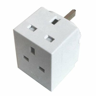 3 Way Plug Adaptor 13 Amp Extension Electronics Multi Socket Plug Adapter