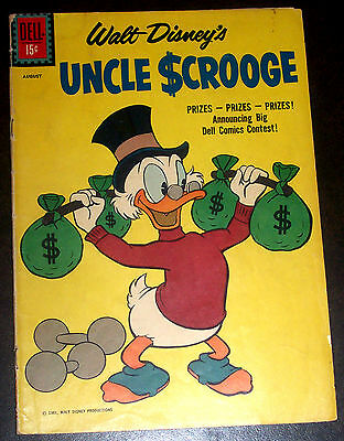 UNCLE SCROOGE #34 (VG/FN) by Carl Barks Silver-Age Walt Disney Dell 1961 Classic