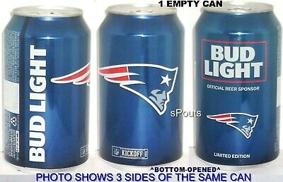 2016 New England Patriots Bud Light Nfl Kickoff Beer Can Football Sport Man Cave
