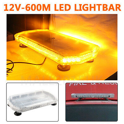 Amber LED Recovery Light bar 600mm 12v Flashing Beacon Truck Light Strobes