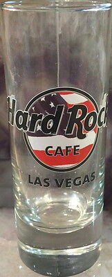 "Hard Rock Cafe LAS VEGAS 2015 USA FLAG HRC LOGO 4"" SHOT GLASS Cordial Glassware"
