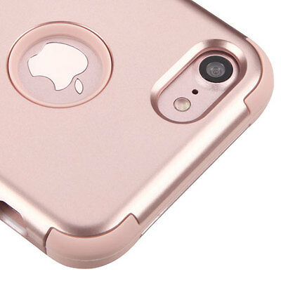 iPhone 7 / 8 - Rose Gold Shockproof Armor Hybrid Rugged Rubber Hard Case Cover